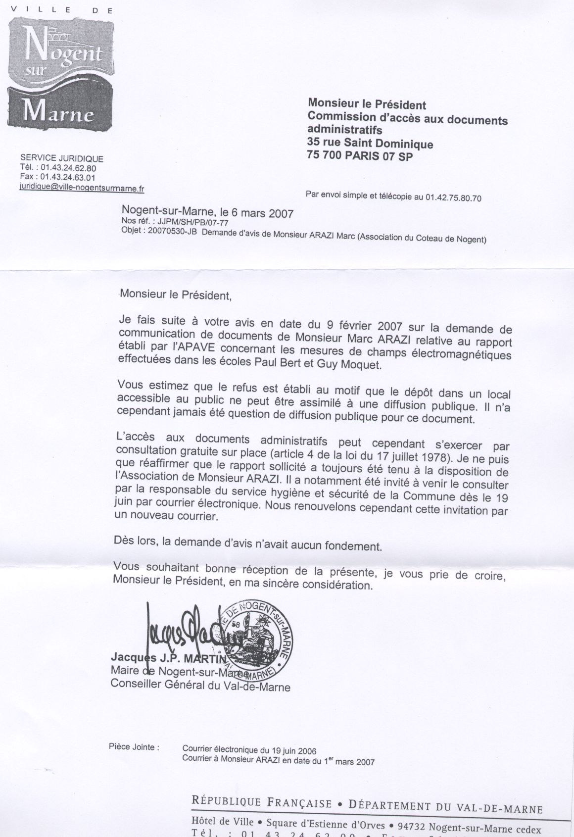 Le maire f ch avec la transparence association des - Loi sur nuisances sonore par aboiement de chiens ...