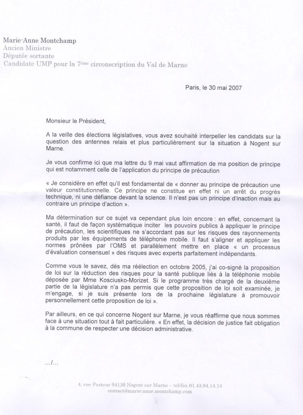 Questions aux candidates sur les antennes relais nogent - Loi sur nuisances sonore par aboiement de chiens ...