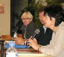 Janine le Calvez, Marc Arazi et Agnès Perrin (de gauche à droite)
