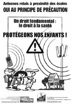 Affiche Principe de précaution antennes relais