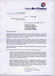 Courrier du Conseil Régional Ile de France