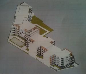 Vue d'ensemble en haut, la rue Thiers, en bas, la rue des Clamarts