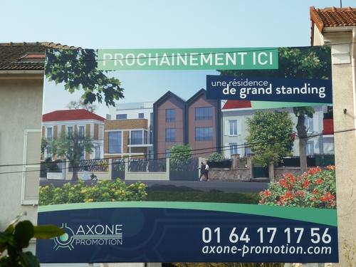 Panneau photo-montage du projet